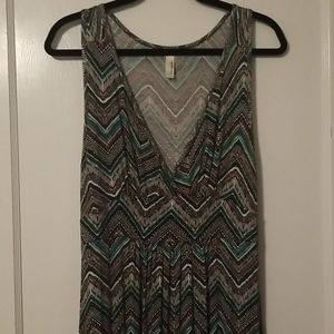 XL Loveapella teal and pink maxi dress